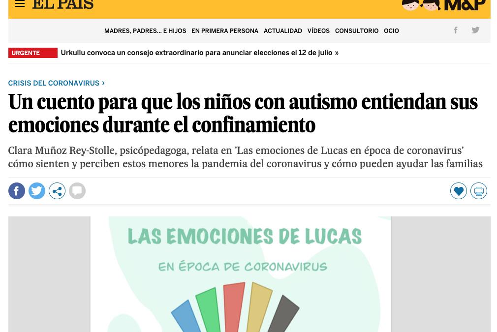 El cuento de nuestra compañera Clara Muñoz Rey-Stolle en El País